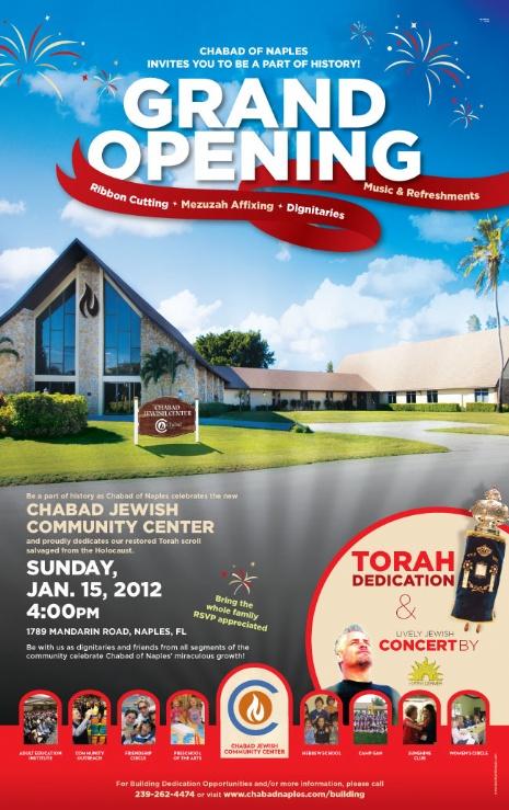 Invitation Grand Opening Chabad Naples